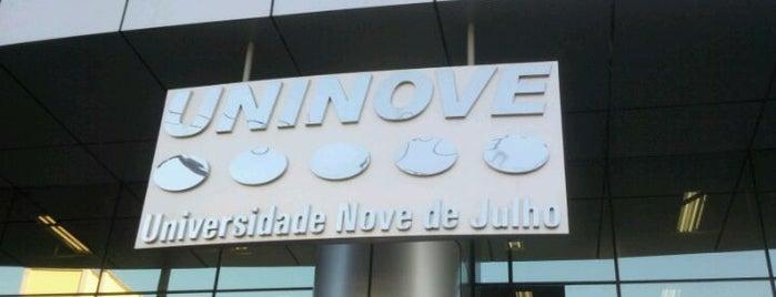 Universidade Nove de Julho (UNINOVE) is one of Tempat yang Disukai Guilherme.