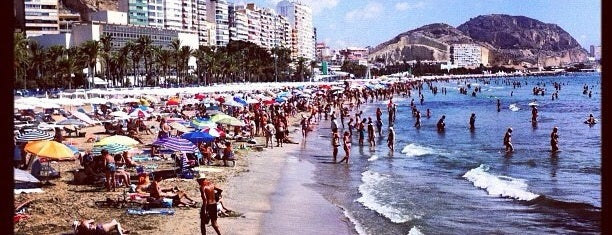 Playa del Postiguet is one of Alicante.