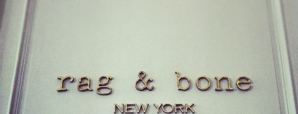 Rag & Bone is one of NY stores.