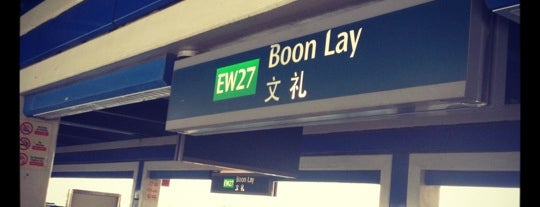 Boon Lay MRT Station (EW27) is one of le 4sq with Donald :).