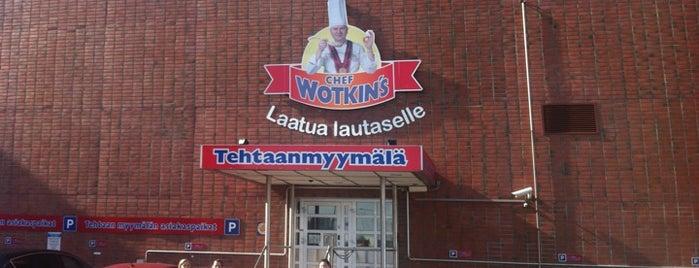Chef Wotkin's Tehtaanmyymälä is one of Päivi's Liked Places.