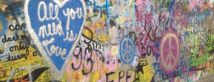 Lennonova zeď is one of StorefrontSticker #4sqCities: Prague.