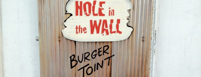 Hole in the Wall Burger Joint is one of Places to check out.