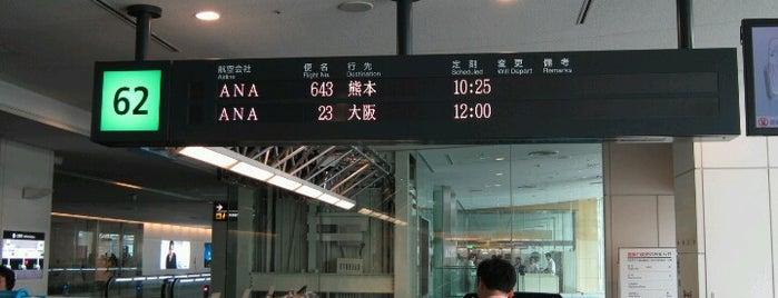 Gate 62 is one of 羽田空港 第2ターミナル 搭乗口 HND terminal2 gate.