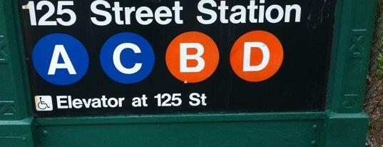 MTA Subway - 125th St (A/B/C/D) is one of Make NYC Your Gym: In Transit.