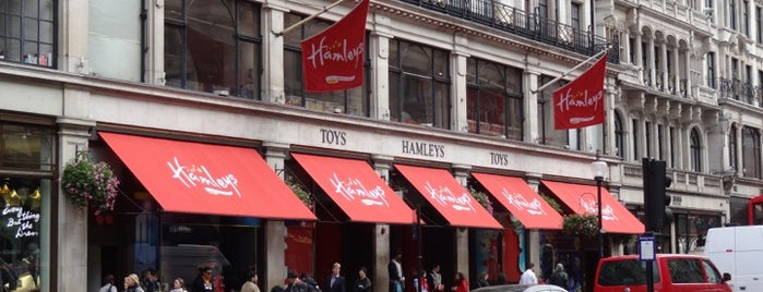 Hamleys is one of London shopping..