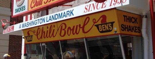 Ben's Chili Bowl is one of The World Outside of NYC and London.