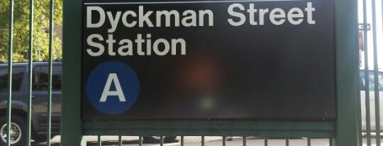 MTA Subway - Dyckman St (A) is one of National Historic Landmarks in Northern Manhattan.