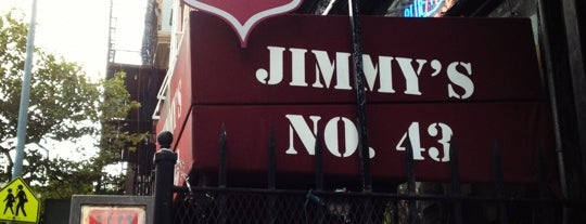 Jimmy's No. 43 is one of Whisky Bars @ NYC & Boston.