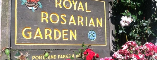 International Rose Test Garden is one of West Coast Sites.