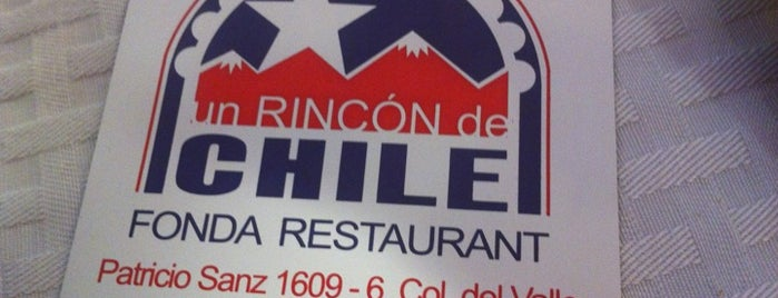 Un Rincon de Chile is one of Restaurantes.