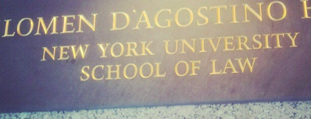 NYU Law | D'Agostino Hall is one of -NYC-.