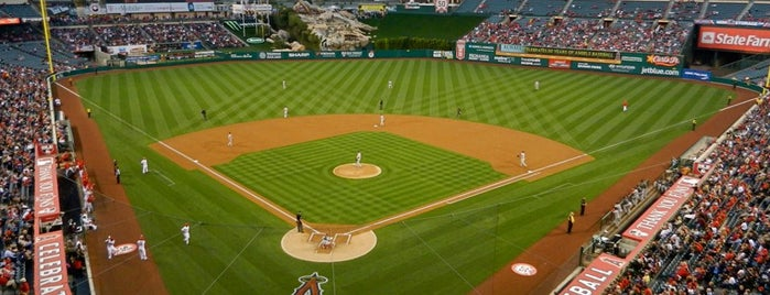 Angel Stadium of Anaheim is one of sports arenas and stadiums.