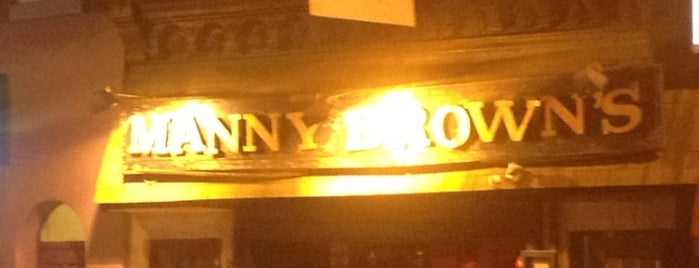 Manny Brown's is one of Favorite bars.