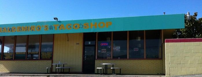 Baldemiro's Taco Shop is one of HWY1: Santa Cruz to Monterey/Carmel.
