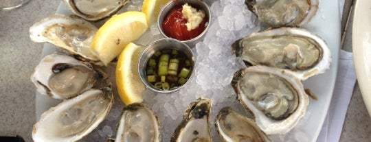 Spoto's Oyster Bar in Palm Beach Gardens is one of Locais salvos de Foxxy.