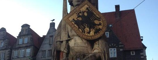 Bremer Roland is one of Die beliebtesten deutschen Denkmäler.