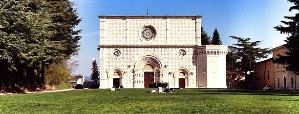 Basilica di Santa Maria di Collemaggio is one of L'Aquila.