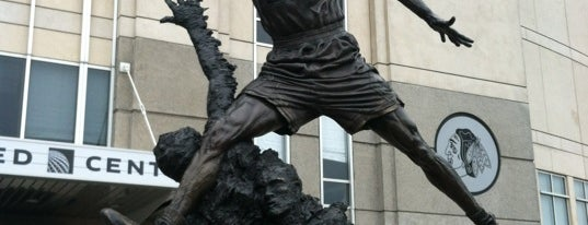 The Spirit by by Omri & Julie Rotblatt-Amrany (Michael Jordan Statue) is one of 101 places to see in Chicago before you die.