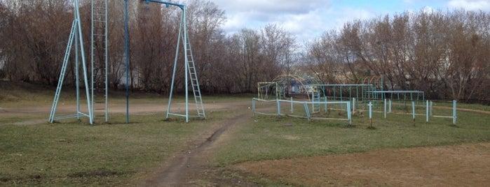 Спорт площадка напротив голоден парка is one of Для бэйджей.