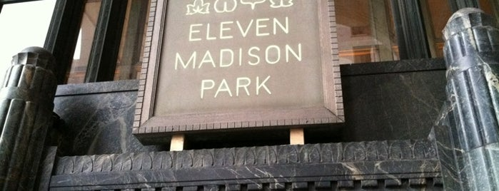 Eleven Madison Park is one of Comes.