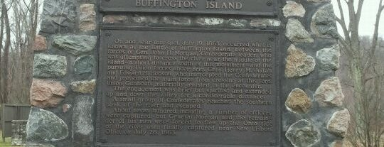 Buffington Island State Memorial Park is one of SE Ohio and Parkersburg WV.