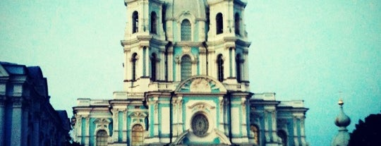 Smolny Cathedral is one of St Petersburg.