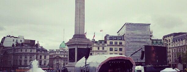 Trafalgar Square is one of London.