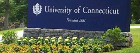 University of Connecticut is one of Orte, die Dominic gefallen.