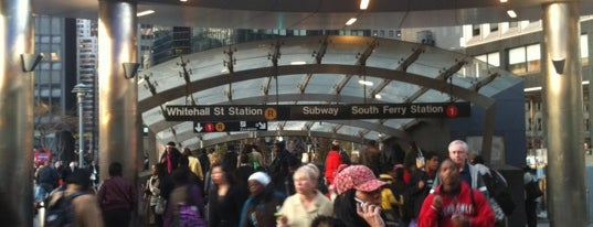 MTA Subway - Whitehall St/South Ferry (R/W) is one of Trainspotter Badge.