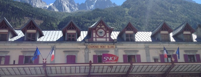 Gare SNCF de Chamonix-Mont-Blanc is one of Chamonix Transport.