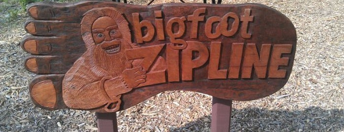 Bigfoot Zipline is one of Wisconsin Dells.