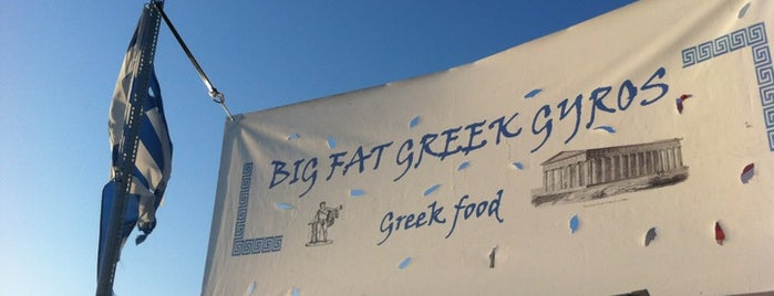 Big Fat Greek Gyros is one of Food Trucks.