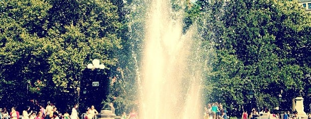 Washington Square Fountain is one of The Great Outdoors NY.