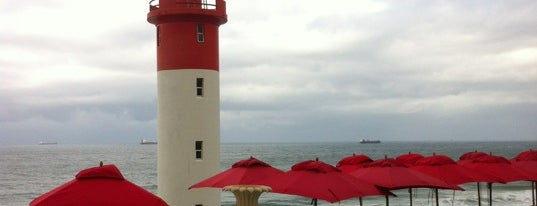 Umhlanga Rocks Lighthouse is one of Locais curtidos por Fathima.