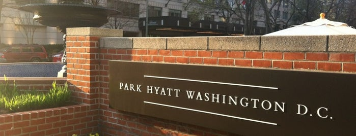 Park Hyatt Washington D.C. is one of Tempat yang Disimpan Queen.