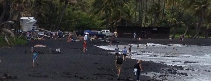 Punalu'u Black Sand Beach is one of Hawai'i 4th of July.