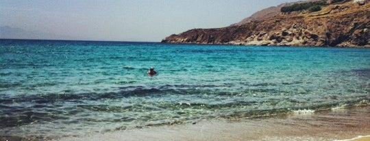Kalo Livadi Beach is one of Sykonos.