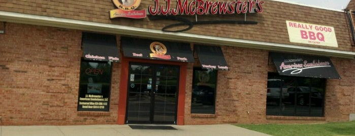 J.J. McBrewster's is one of Lugares guardados de Gregg.