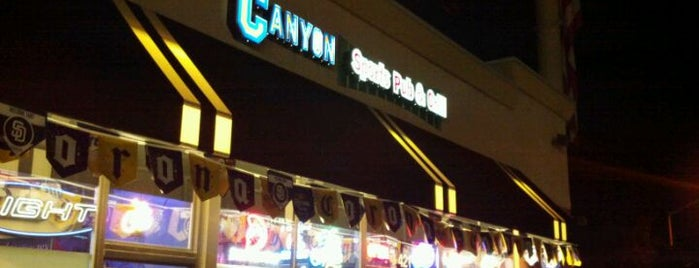 The Canyon Sports Pub & Grill is one of สถานที่ที่ Brian ถูกใจ.