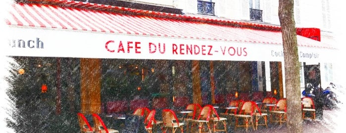 Café du Rendez-Vous is one of RESTÖ [ 75 PARIS FRANCE ] ⬅_⬅.