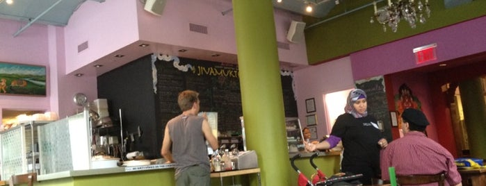 Jivamuktea Café is one of Food Places to Try in NYC.