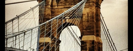 John A Roebling Suspension Bridge is one of Simpsonnati.