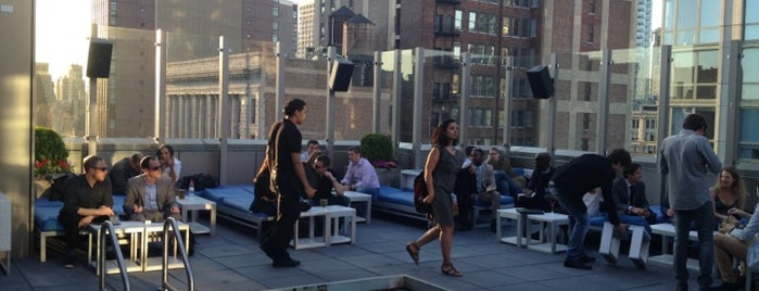 Gansevoort Park Rooftop is one of Swanky Rooftop Bars.