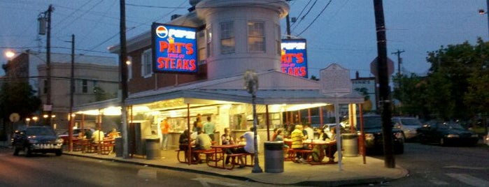 Pat's King of Steaks is one of NY Region Old-Timey Bars, Cafes, and Restaurants.