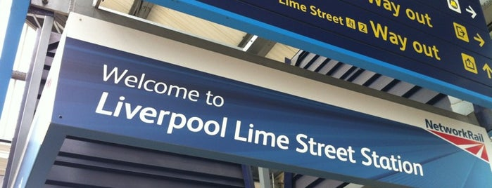 Liverpool Lime Street Railway Station (LIV) is one of You calling me a train spotter?.