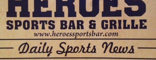 Heroes Sports Bar & Grille is one of Adventures in Dining: USA!.