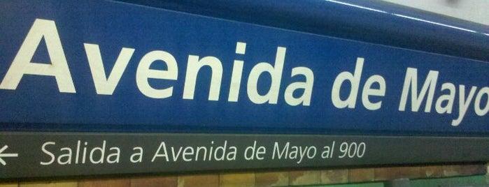 Estación Avenida de Mayo [Línea C] is one of Tempat yang Disimpan Rodrigo.