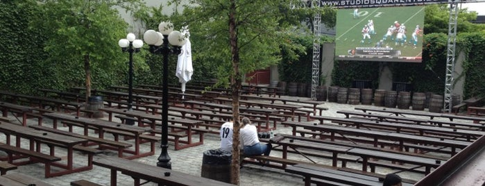 The Garden at Studio Square is one of nyc - outdoor wine/dine.