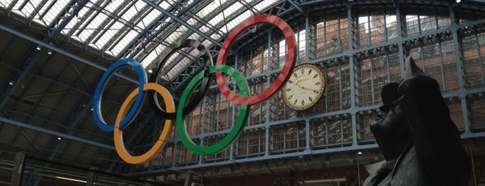 London St Pancras International Railway Station (STP) is one of You calling me a train spotter?.